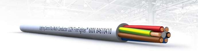 Multiconductor LSZH FireFighter Control Cable for  Luminaire Plug Wiring