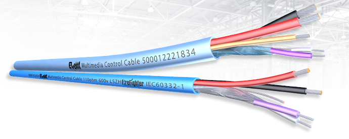 Multimedia Hybrid Control Cable for Lutron and Cresnet applications