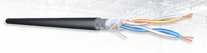 Specialist fire survivable cable IE SF/UTP cable with circuit integrity behavior