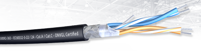 Armada® RS-485 2x2x22/7 AWG SF/UTP LSZH-SHF2 DNV-GL Approved