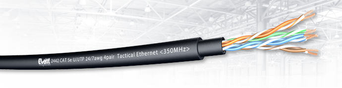 EventSeries® CAT5e U/UTP 24/7awg 4pair Upjacketed Tactical Ethernet <350MHz>