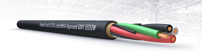 SEOOW Portable Cord UL/CSA Listed MHSA Approved 600 V